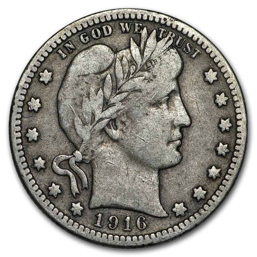 1916-D Barber Quarter Fine