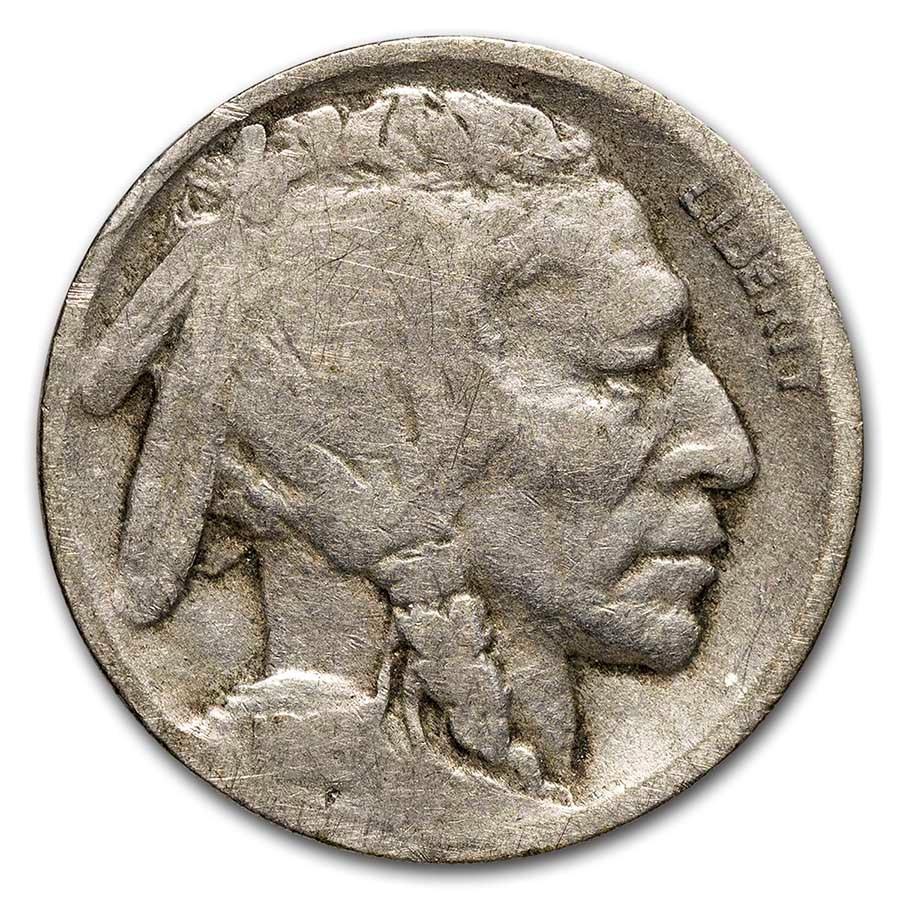 1916-D Buffalo Nickel AG