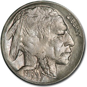 1916-D Buffalo Nickel MS-62