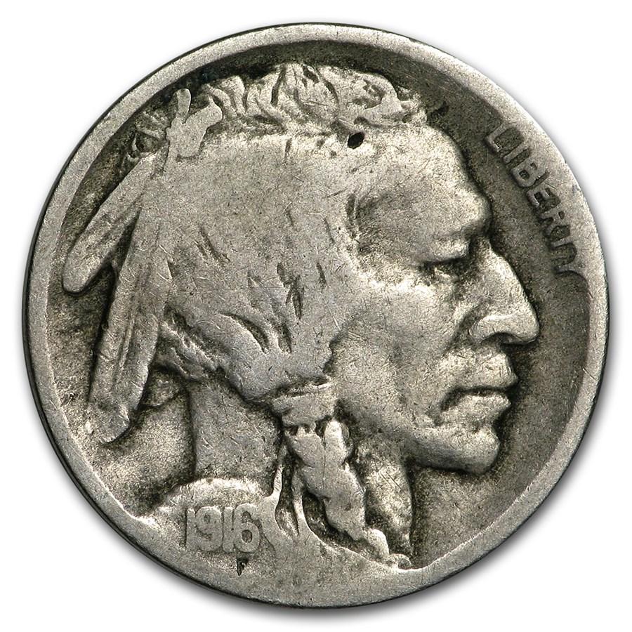 1916-D Buffalo Nickel VG