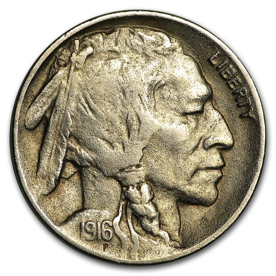 1916-D Buffalo Nickel XF Details