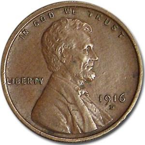 1916-D Lincoln Cent AU