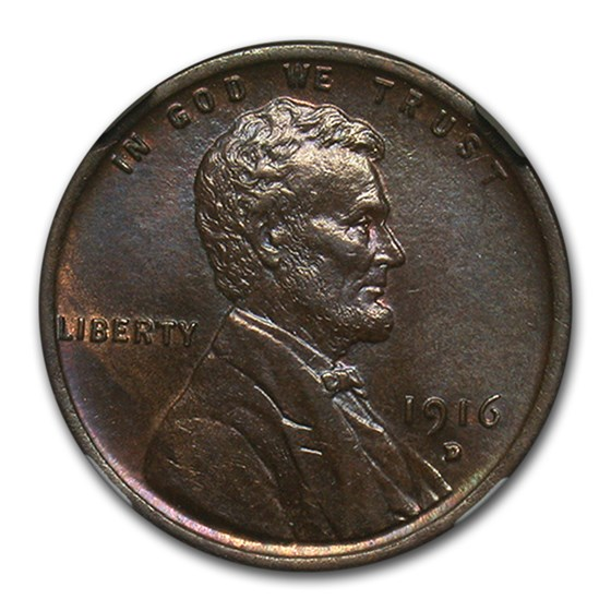 1916-D Lincoln Cent MS-64 NGC (Brown)