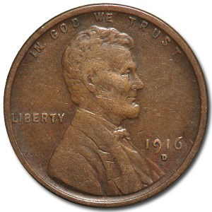 1916-D Lincoln Cent XF