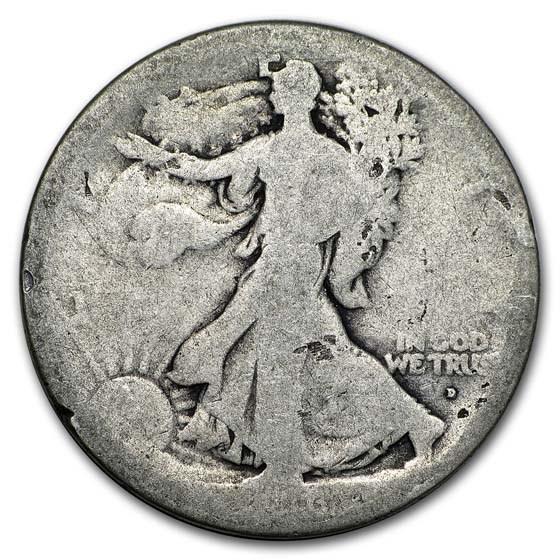 1916-D Walking liberty Half Dollar Fair