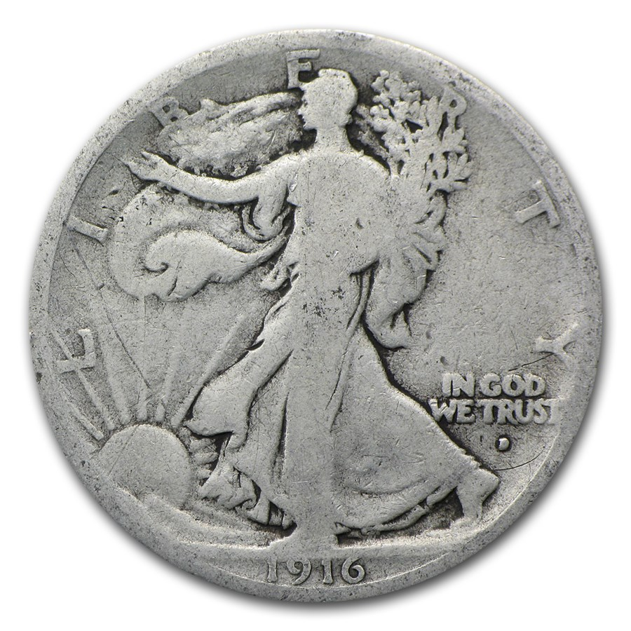 1916-D Walking Liberty Half Dollar Good