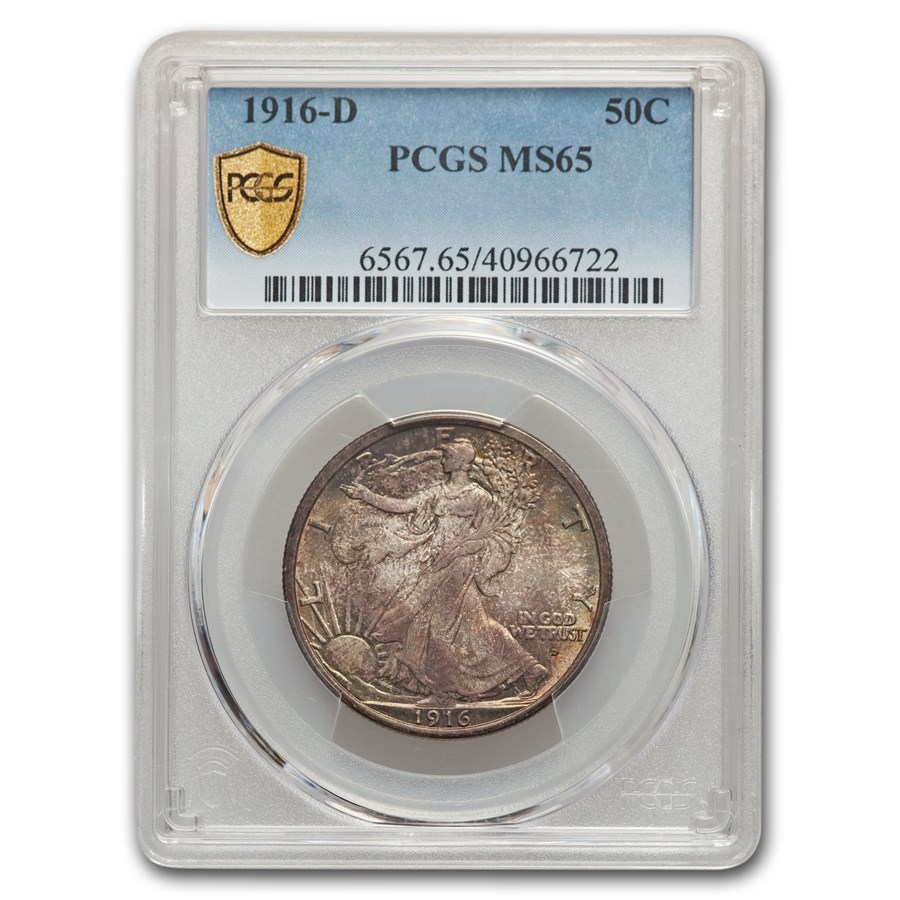 1916-D Walking Liberty Half Dollar MS-65 PCGS