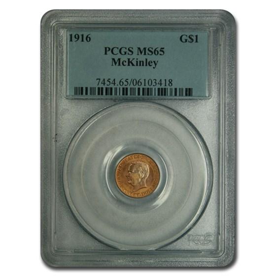 1916 Gold $1.00 McKinley MS-65 PCGS