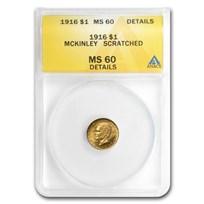 1916 Gold $1.00 McKinley Unc Details