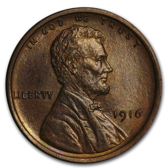 1916 Lincoln Cent BU (Brown)