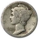 1916 Mercury Dime Good/Fine