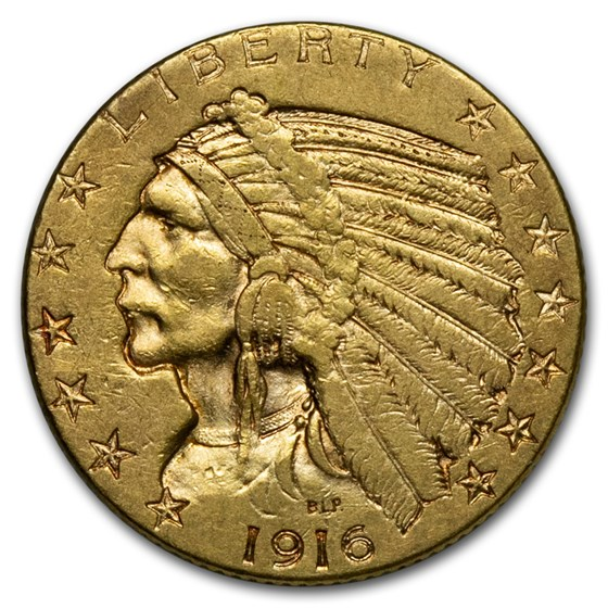 1916-S $5 Indian Gold Half Eagle XF