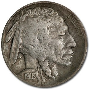 1916-S Buffalo Nickel VF