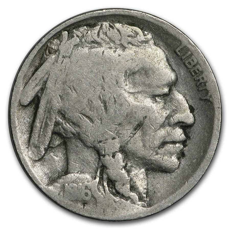 1916-S Buffalo Nickel VG Details