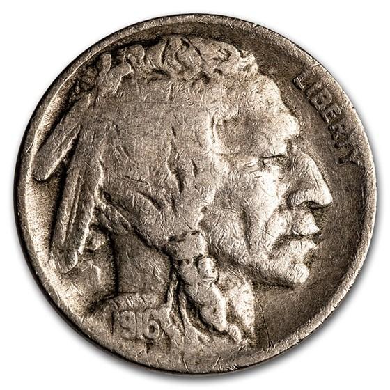 1916-S Buffalo Nickel VG