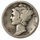 1916-S Mercury Dime Good/VG