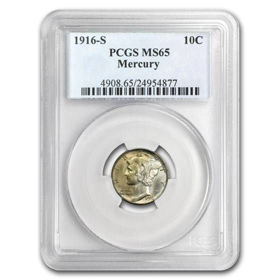 1916-S Mercury Dime MS-65 PCGS