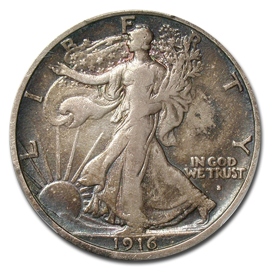 1916-S Walking Liberty Half Dollar VF-25 PCGS