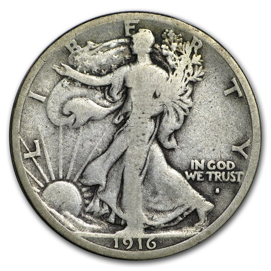 1916-S Walking Liberty Half Dollar VG