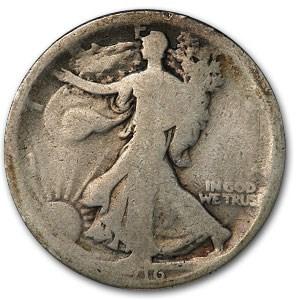 1916 Walking Liberty Half Dollar AG