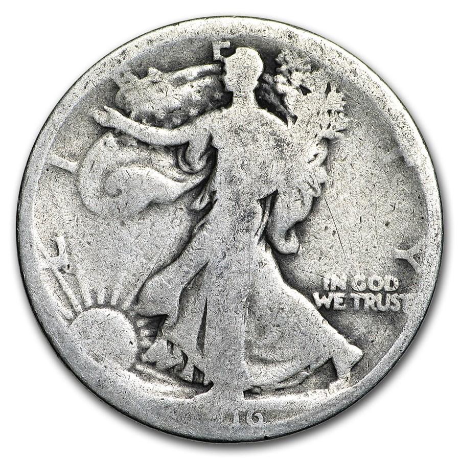1916 Walking Liberty Half Dollar Fair
