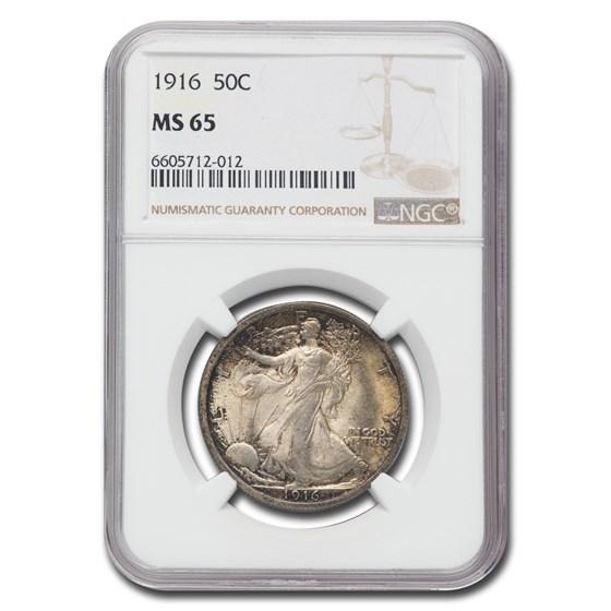 1916 Walking Liberty Half Dollar MS-65 NGC