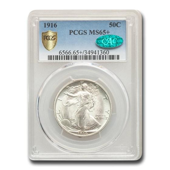 1916 Walking Liberty Half Dollar MS-65+ PCGS CAC