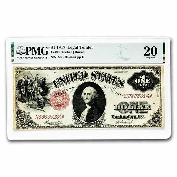 1917 $1.00 Legal Tender George Washington VF-20 PMG (Fr#36)