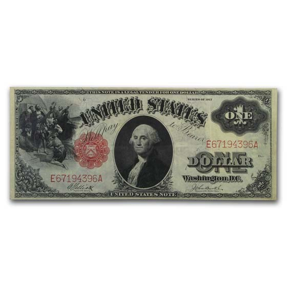 1917 $1.00 Legal Tender George Washington VF (Fr#37)