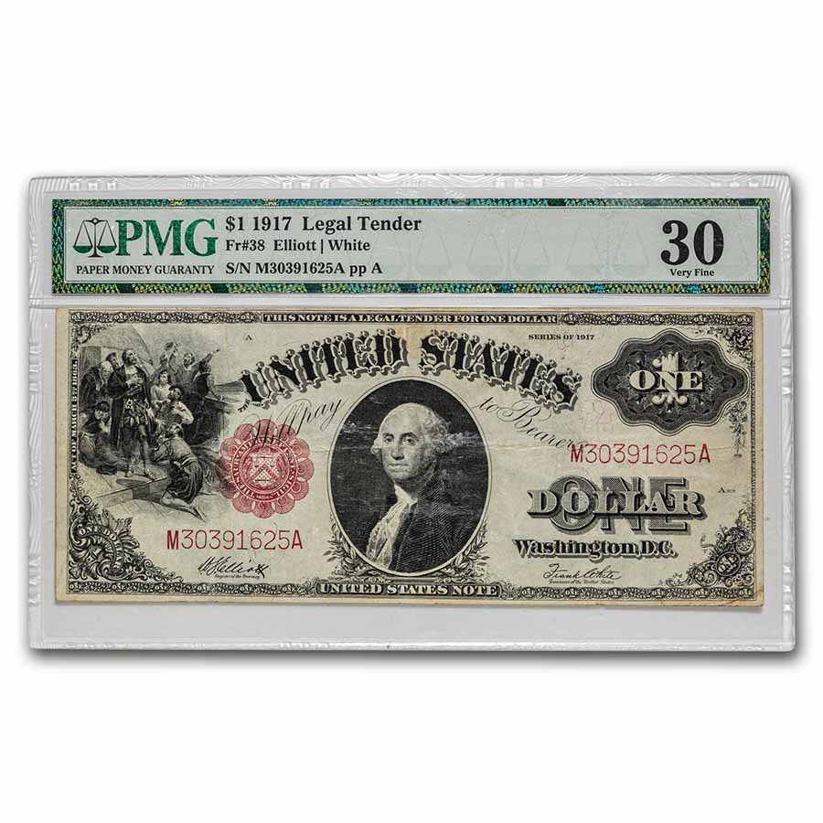 1917 $1.00 Legal Tender VF-30 PMG (Fr#38)