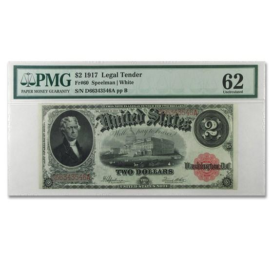 1917 $2.00 Legal Tender CU-62 PMG