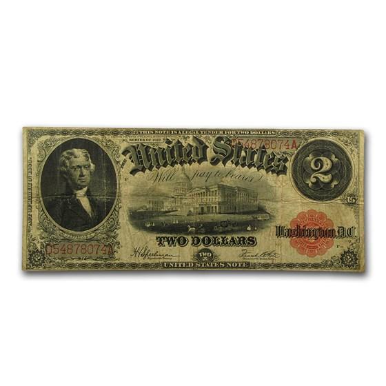1917 $2.00 Legal Tender Jefferson Fine/VF