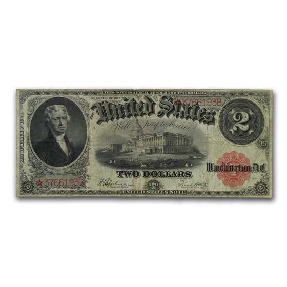 1917* $2.00 Legal Tender VF (Fr#60*) Star Note