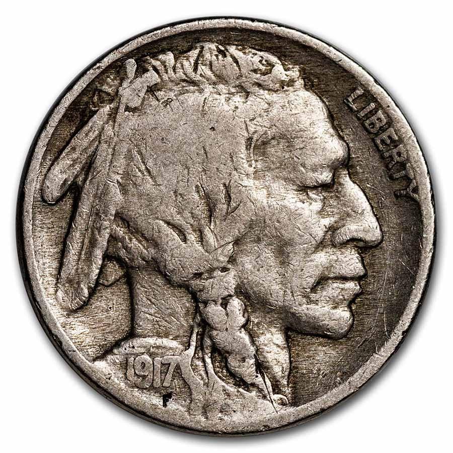 1917 Buffalo Nickel Fine