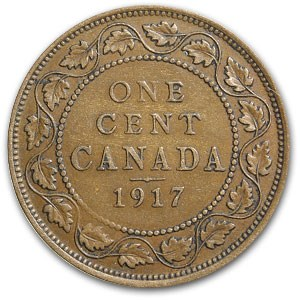 1917 Canada Large Cent XF