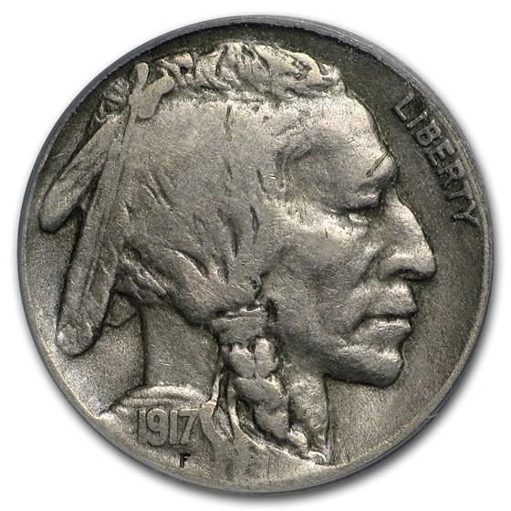 1917-D Buffalo Nickel Fine