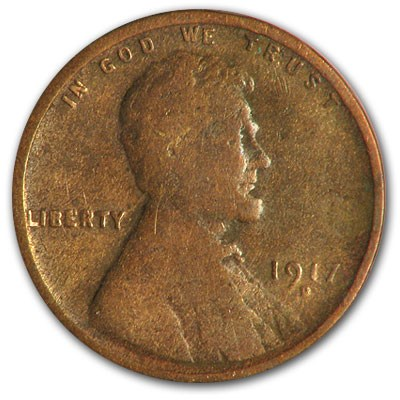 1917-D Lincoln Cent Good/VG