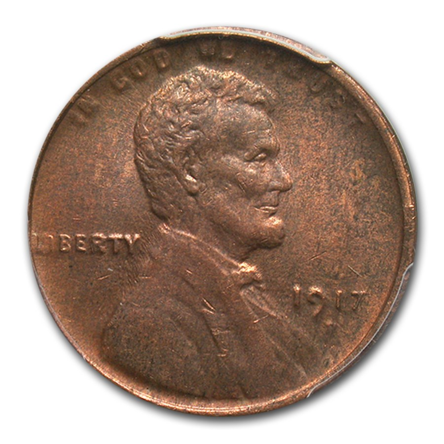 1917-D Lincoln Cent MS-62 PCGS (Red/Brown)