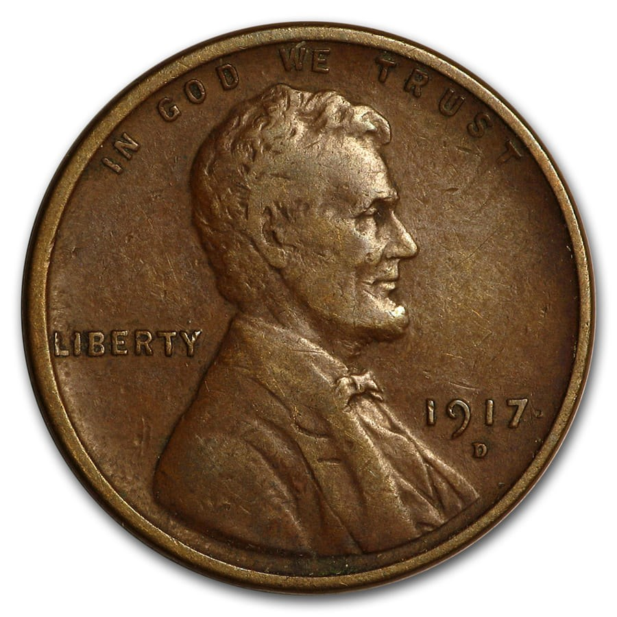 1917-D Lincoln Cent VF