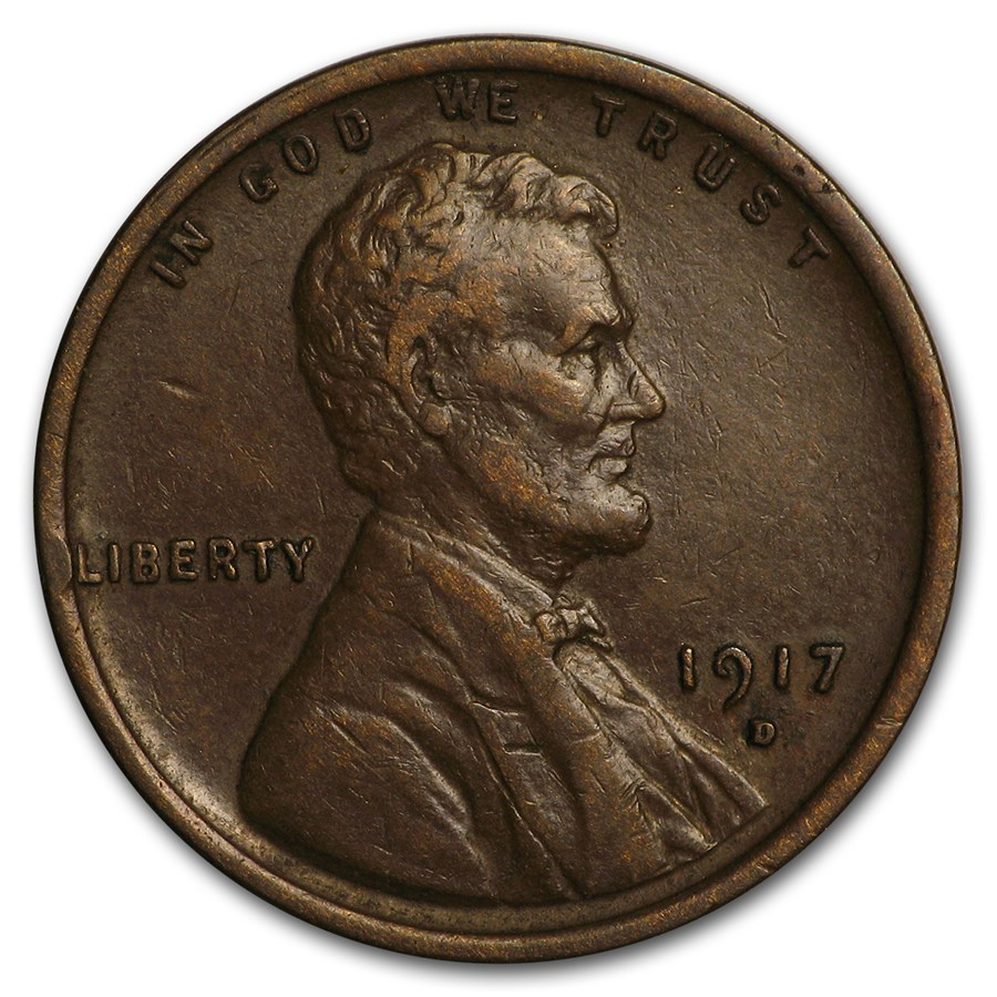 1917-D Lincoln Cent XF