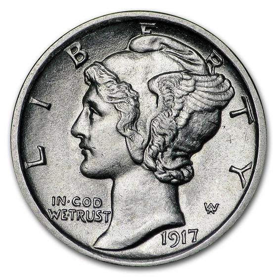 1917-D Mercury Dime BU