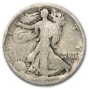 1917-D Obverse Walking Liberty Half Dollar AG