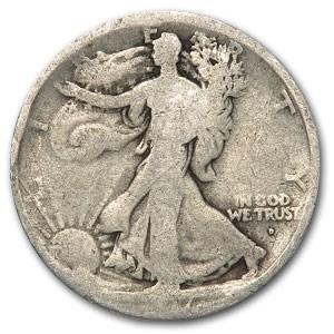 1917-D Obverse Walking Liberty Half Dollar AG
