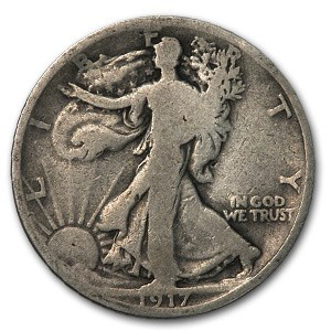1917-D Rev Walking Liberty Half Dollar Good
