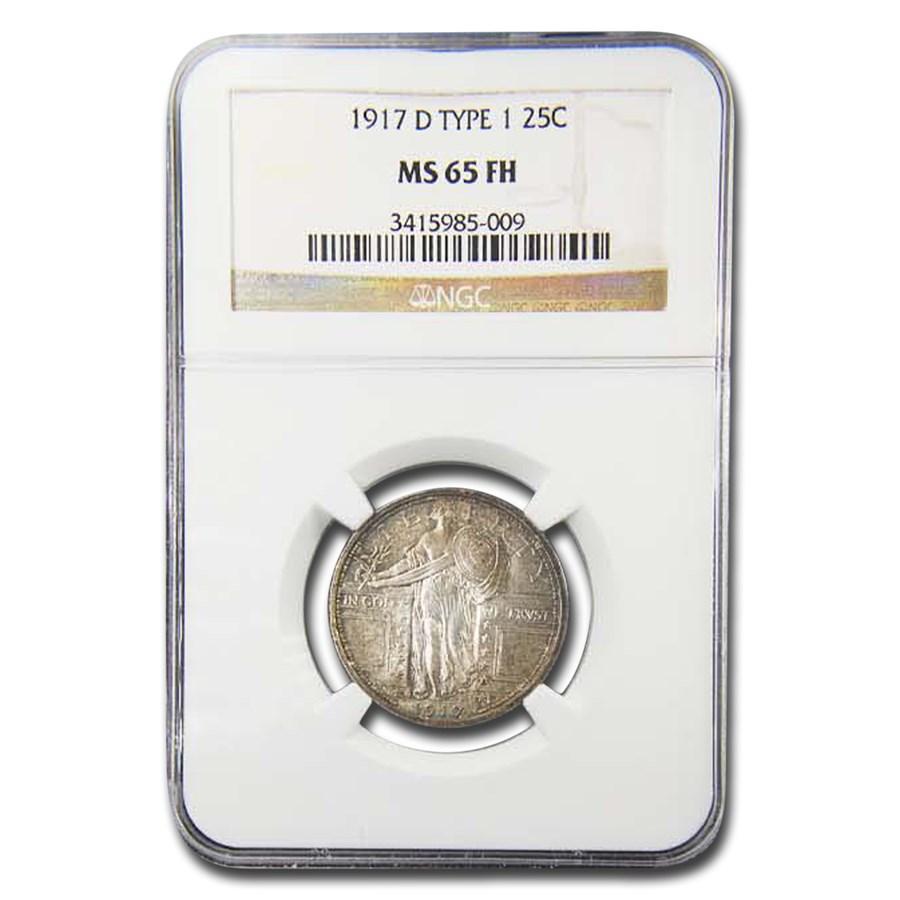 1917-D Standing Liberty Quarter Type-I MS-65 NGC (Full Head)