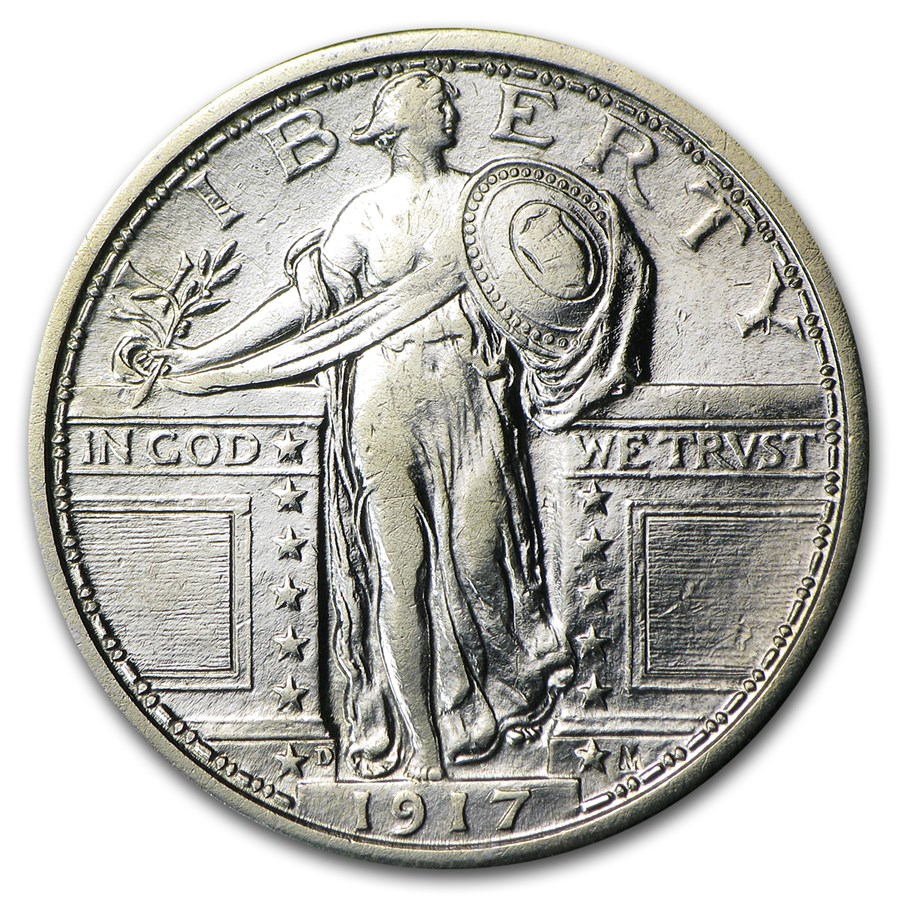 1917-D Standing Liberty Quarter Type-I XF (Details)