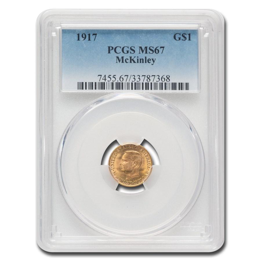 1917 Gold $1.00 McKinley Commem MS-67 PCGS