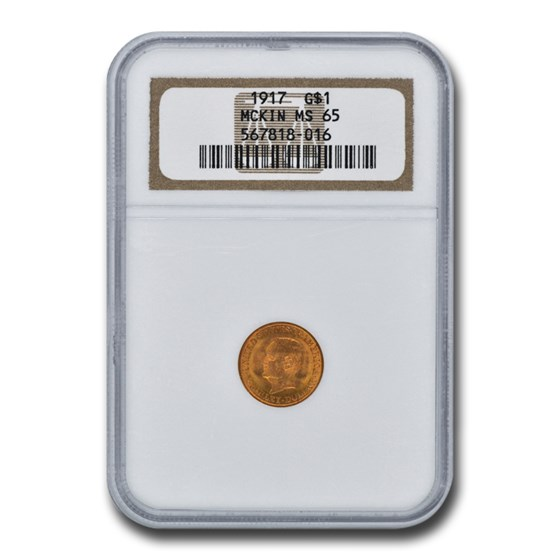 1917 Gold $1.00 McKinley Commemorative MS-65 NGC