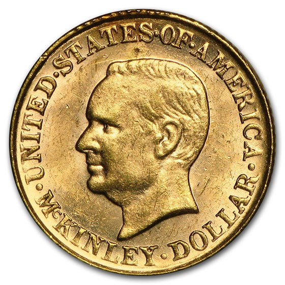 1917 Gold $1.00 McKinley Memorial AU