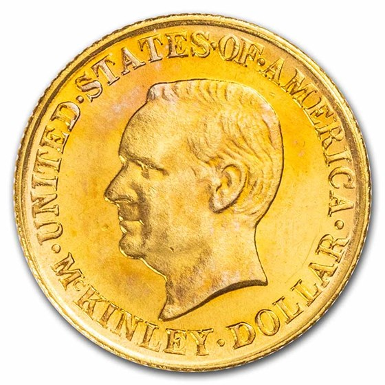 1917 Gold $1.00 McKinley Memorial BU